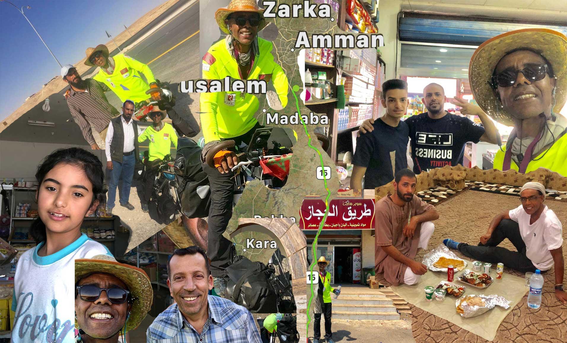 Jour 89 Jordanie : De Casa à la Mecque à vélo Karim MOSTA