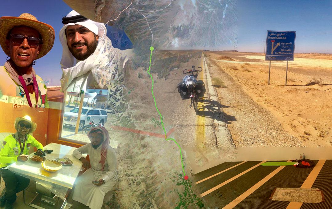 Jour 91 Arabie saoudite : De Casa à la Mecque à vélo Karim MOSTA