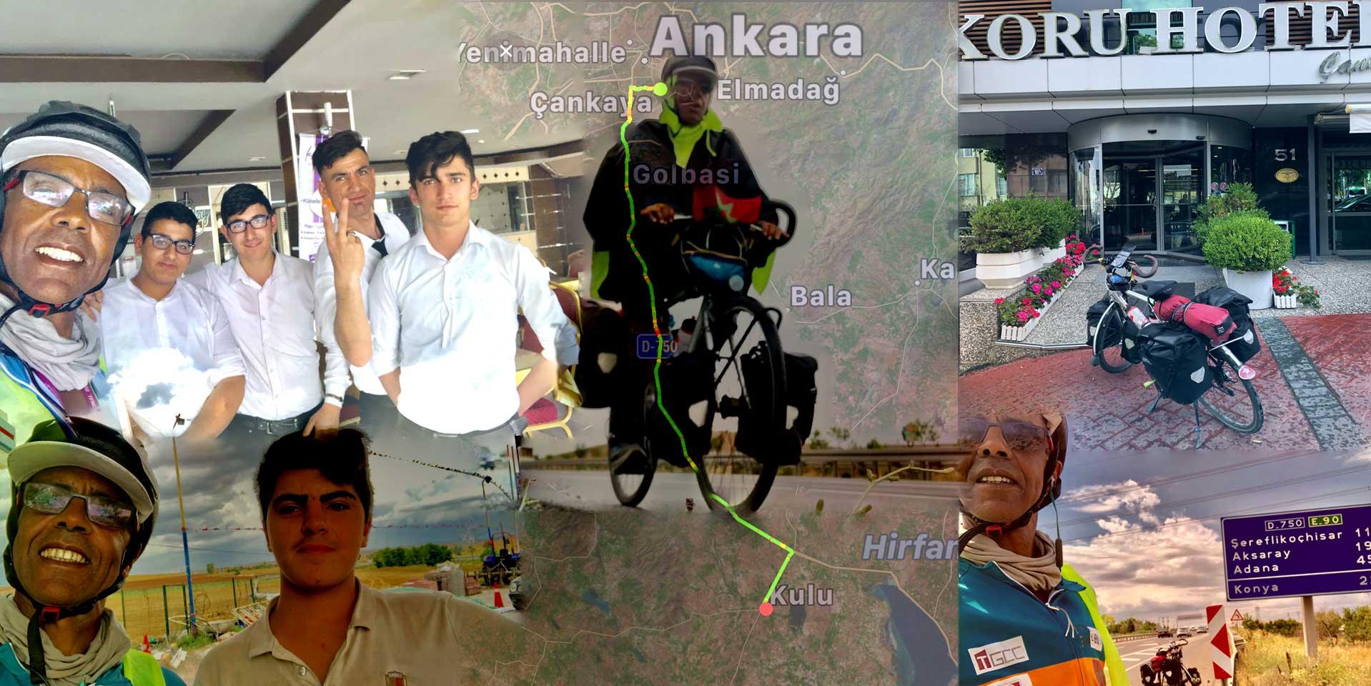 Jour 75 Turquie : De Casa à la Mecque à vélo Karim MOSTA