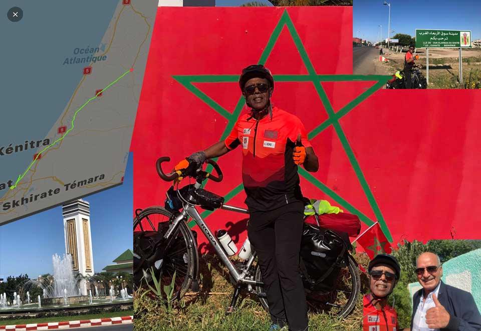 Jour 02 Maroc Rabat vers Souk El Arbaa : De Casa à la Mecque à vélo Karim MOSTA