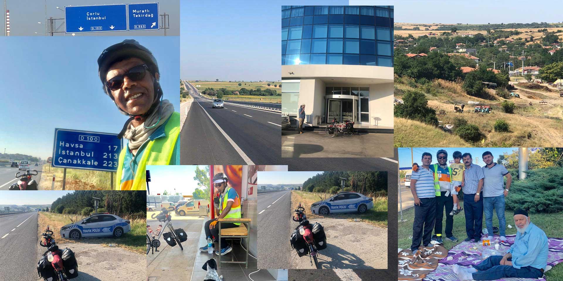 Jour 65 Turquie : De Casa à la Mecque à vélo Karim MOSTA