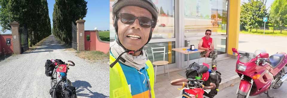Jour 47 Slovenie : De Casa à la Mecque à vélo Karim MOSTA