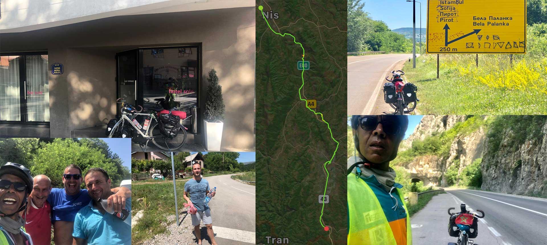 Jour 59 Serbie : De Casa à la Mecque à vélo Karim MOSTA