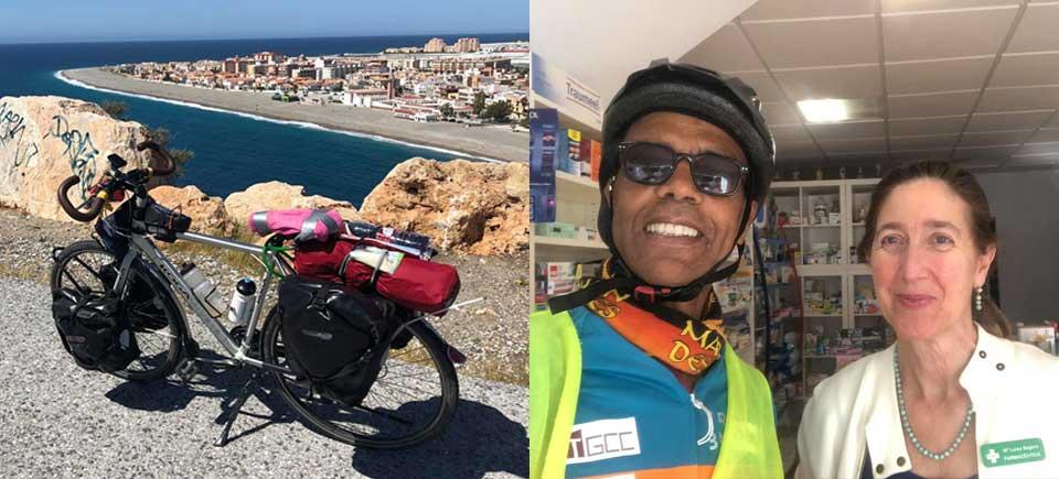 Jour 09 Espagne : De Casa à la Mecque à vélo Karim MOSTA